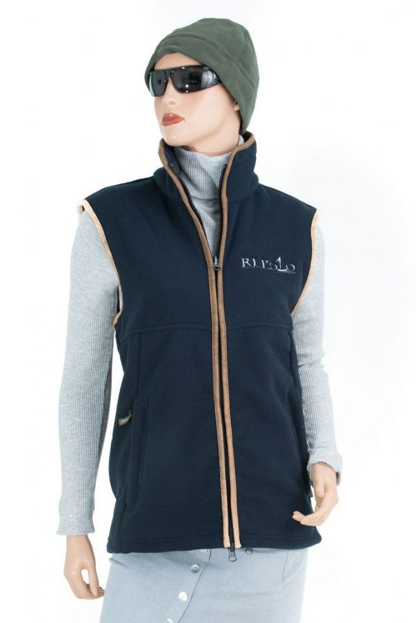 RJ Polo Fleece Gilet in Navy
